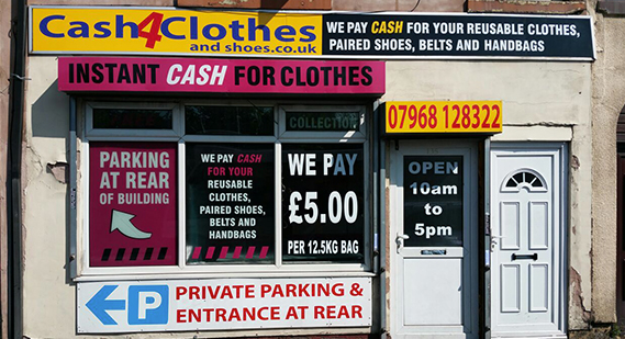 Cash for Clothes Shop in Middleton